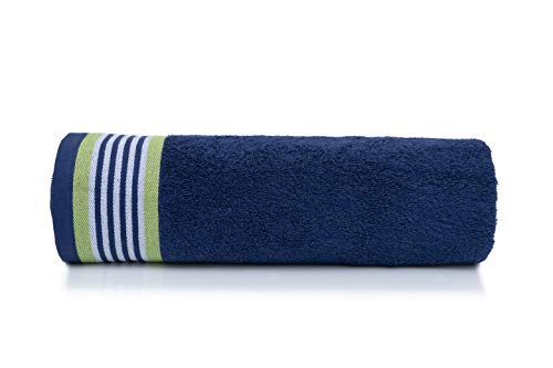 Bath Towel Set 100/% Cotton 500 GSM  Iris Blue and Spring Green
